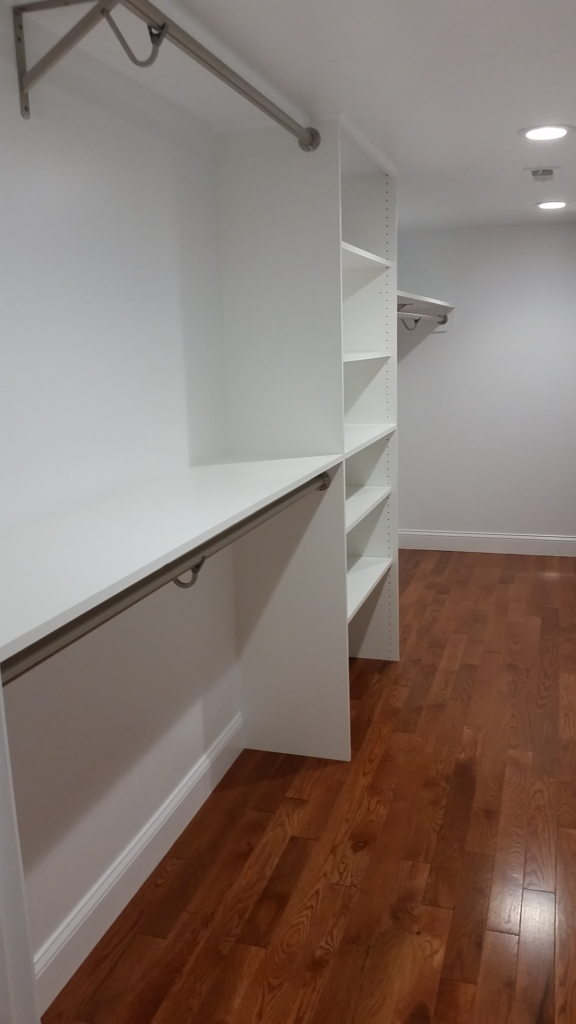 Custom closet carpentry by Fantasia Tile